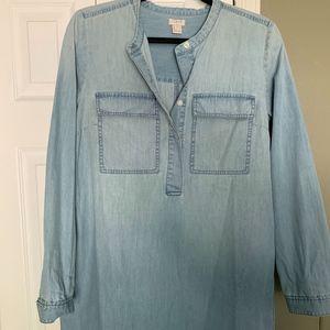 JCREW size Medium denim long sleeved dress